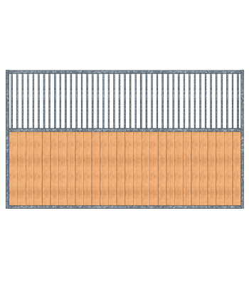 Modular Panel Stall Grilled Partition