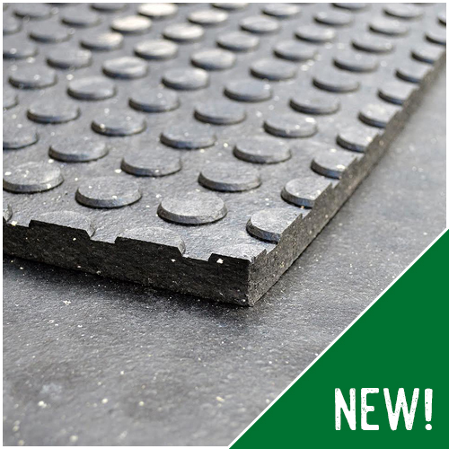 Button Rubber Mat
