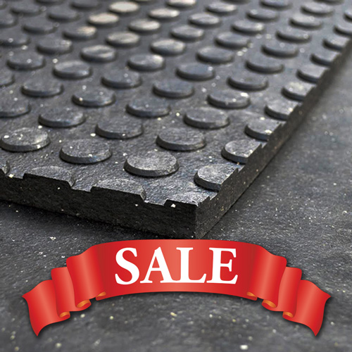 Button Bottom Rubber Mats - Pallet of 25