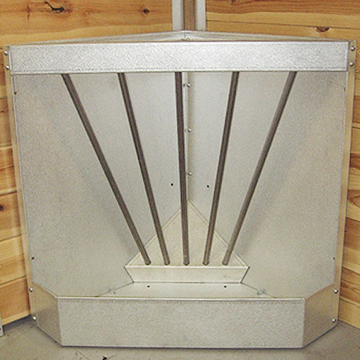 Galvanized Corner Feeder