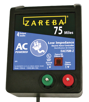 Zareba 75 Mile AC Low Impedance Fence Charger