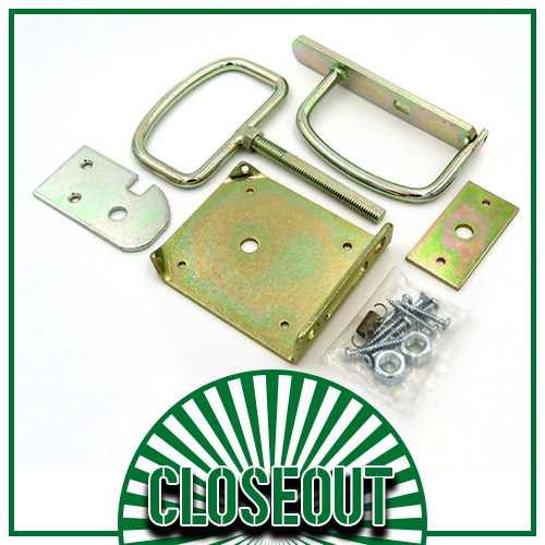 Drop Door Latch - Yellow Zinc Plated