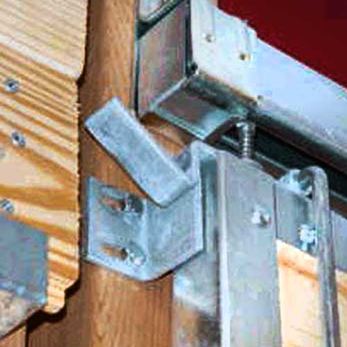 Top door latch system ramm horse fencing stalls for Horse stall door plans