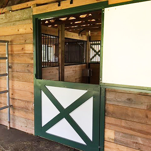 Dutch door ramm horse fencing stalls for Horse stall door plans