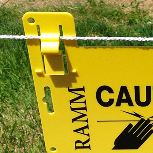 Electric Fence Warning Signs 3 Pack Ramm Horse Fencing