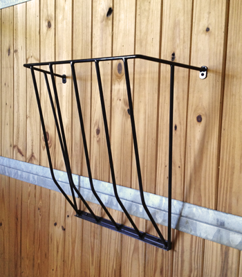 Wall Mount Hay Rack - Black