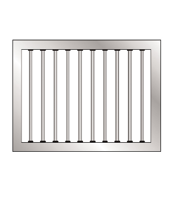 Grilled Window Frame Kit