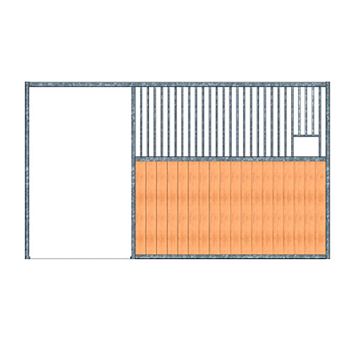 Modular Panel Stall Front - Feed Opening