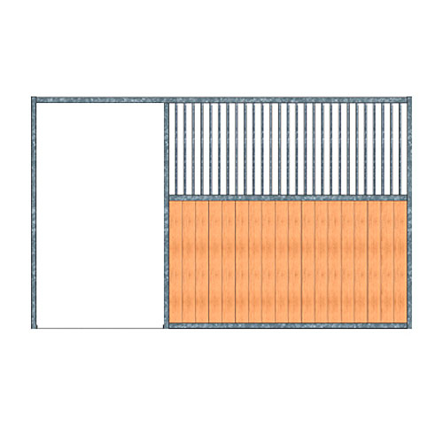 Modular Panel Stall Front - Grill Work