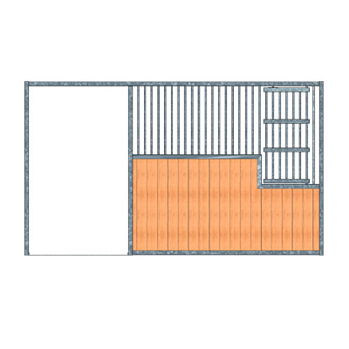 Portable Panel Stall Front - Large Feed Door