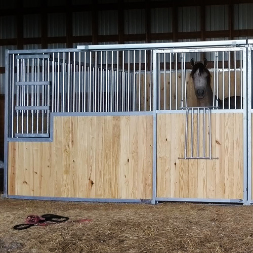 Dublin Stall Front With Large Feed Door Portable Panel