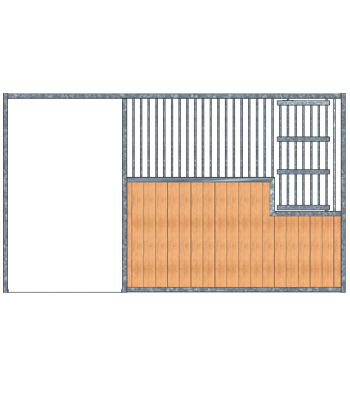 Modular Panel Stall Front - Large Feed Door