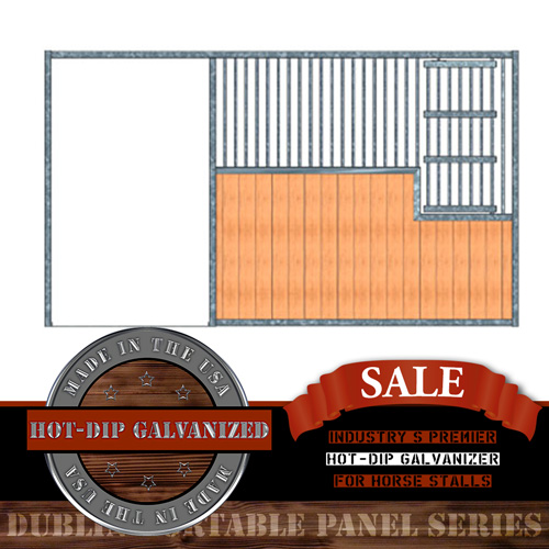 Dublin Portable Panel Stall Front with Large Feed Door