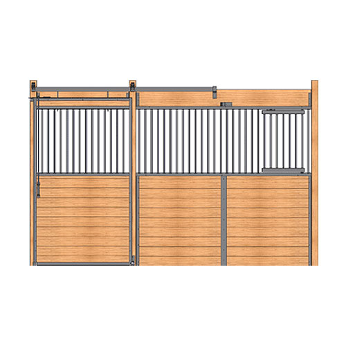 Welded Stall Front with Feed Door & Grill Top Door Kit