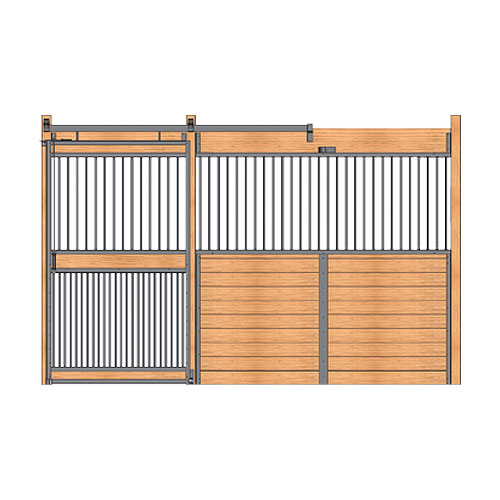 Welded Stall Front with Full Grill Door Kit