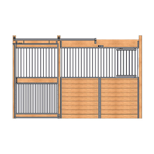 Welded Stall Front with Feed Door & Full Grill Door Kit