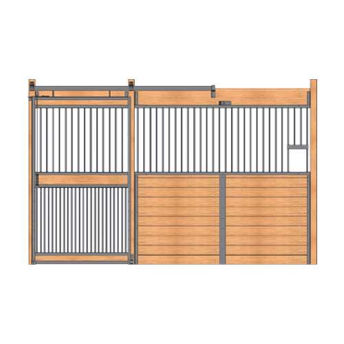 Welded Stall Front with Feed Opening & Full Grill Door Kit