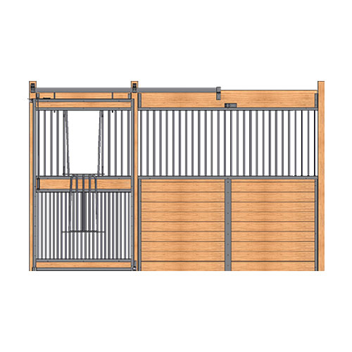 Welded Stall Front with Full Grill V-Door Kit