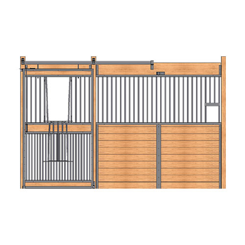 Welded Stall Front with Feed Opening & Full Grill V-Door Kit