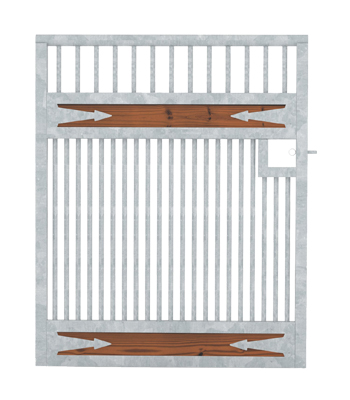 Tuscany Grilled Stall Door - Arrows
