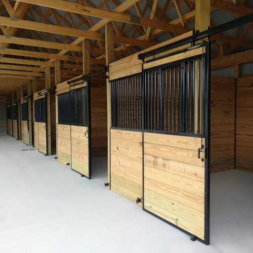 Welded Stall Front With V Door Kit Ramm Horse Fencing
