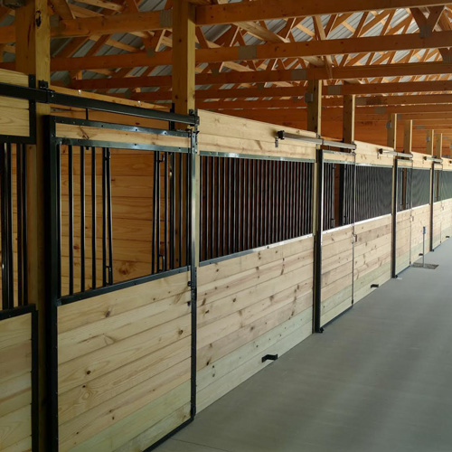 Oxford Horse Stall Front With V Door Ramm Horse Fencing