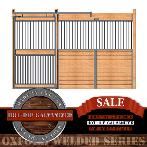Oxford Welded Stall Front with Full Grill Door