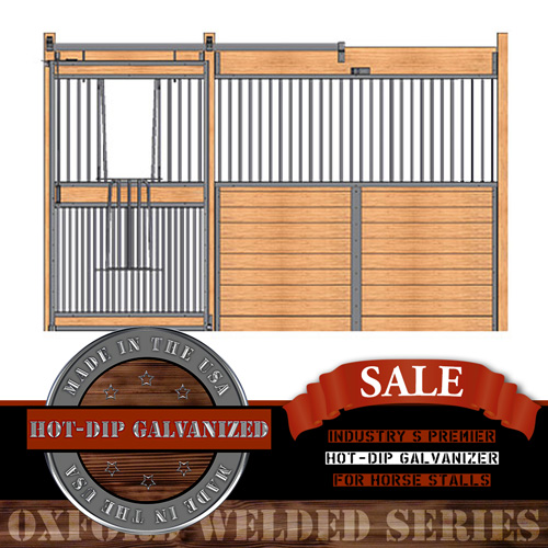 Oxford Welded Stall Front with Full Grill V-Door