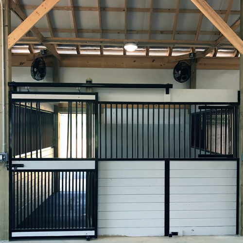 Oxford Horse Stall Front With Feed Door Amp Full Grill V