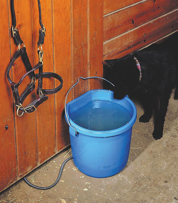 5-Gallon Flat-Back Heated Bucket