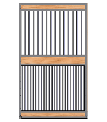 Welded Full Grill Stall Door