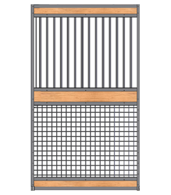 Welded Mesh-Grill Stall Door