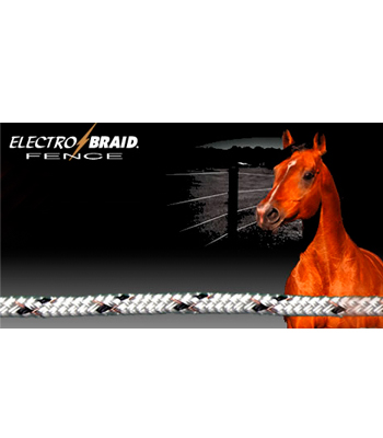 ElectroBraid Electric Horse Fence - 1000 Foot roll