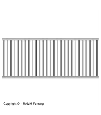 65 Inch Welded Grill Section - Galvanized