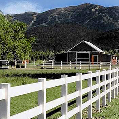 PVC Horse Fence