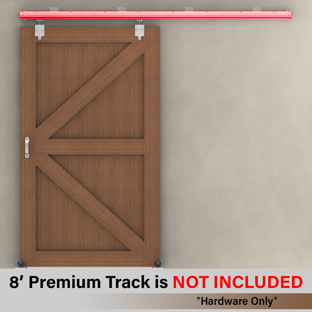Barn Door Premium Track Hardware Kit