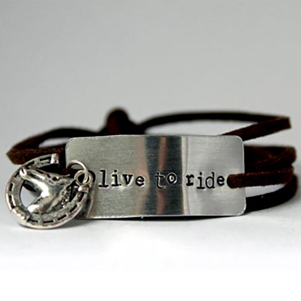 Handmade Suede Horse Bracelet –