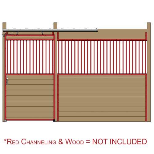Premium Track Stall Door Kit