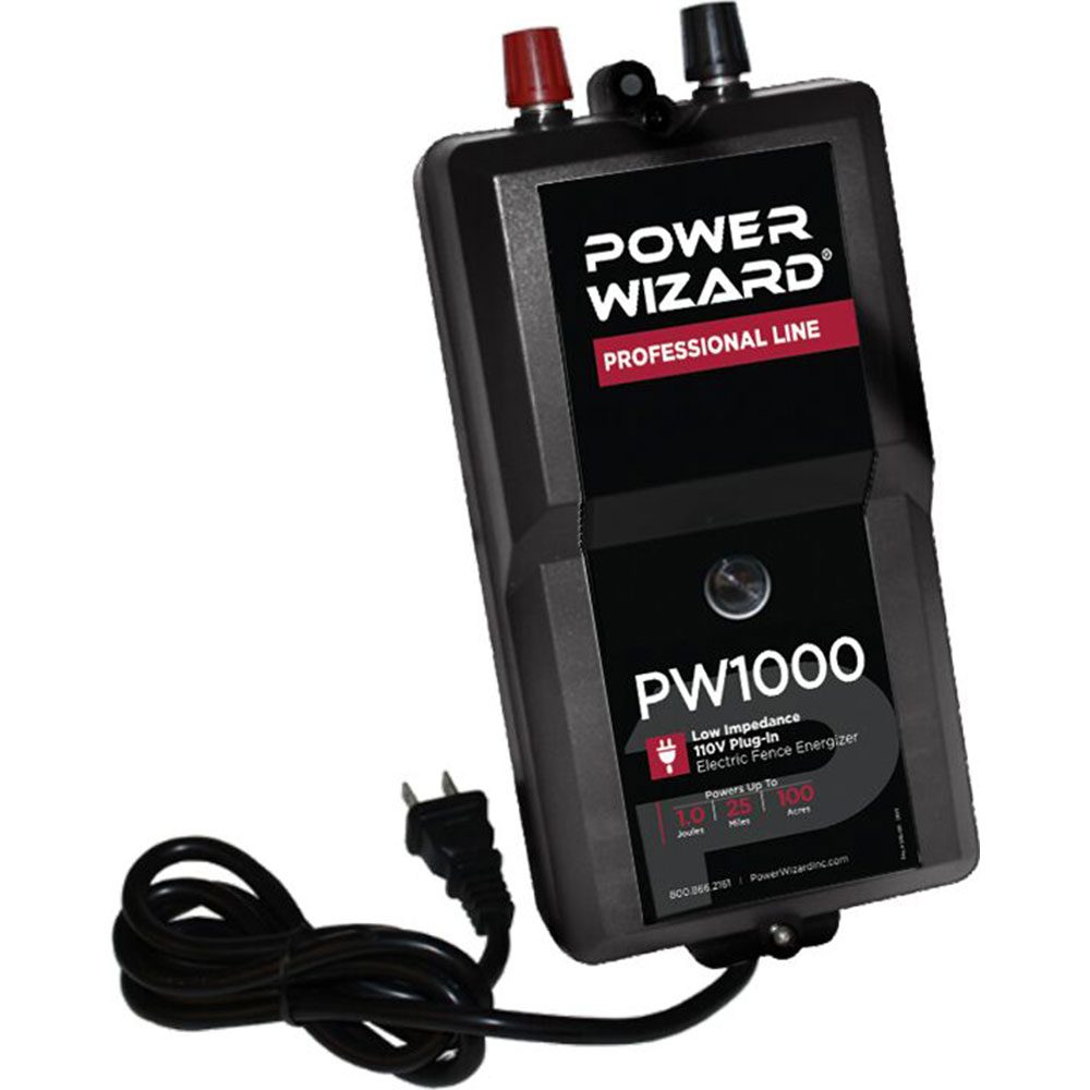 Power Wizard 110V Plug-ln Fence Charger - 1.0 Joule