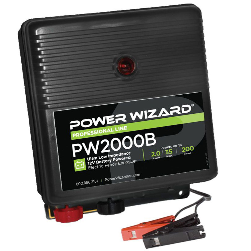 Power Wizard 12V Battery Fence Charger - 2.0 Joules
