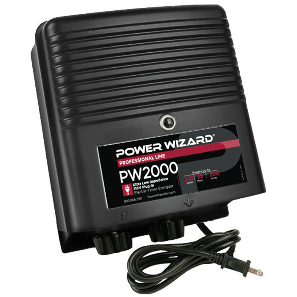 Power Wizard 110V Plug-In Fence Charger - 2.0 Joules