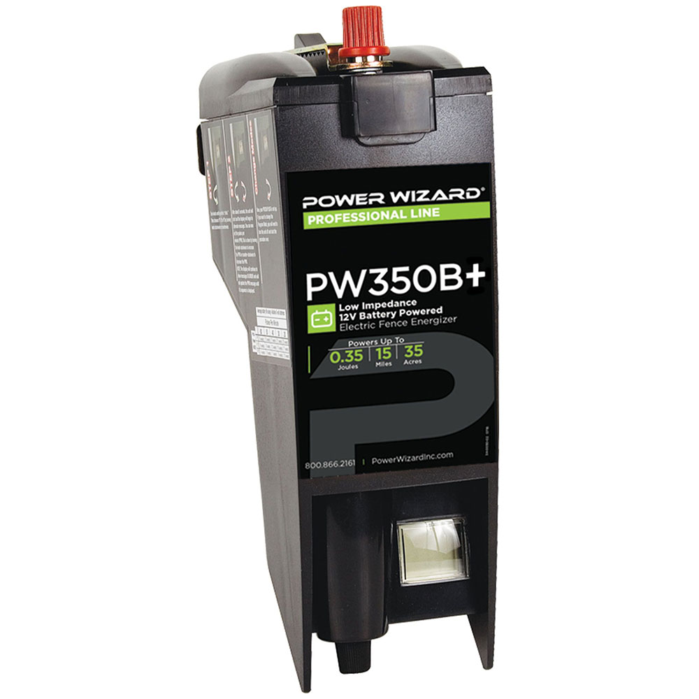 Power Wizard D-Cell/12V Battery Fence Charger Plus - 0.35 Joule