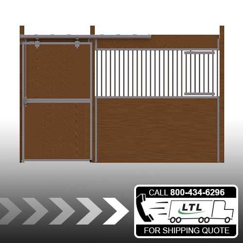 Essex Standard Stall Front with Solid Door & Feed Door Kit