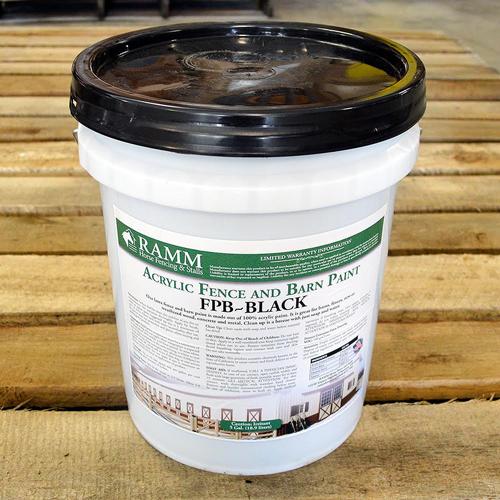 Black Acrylic Fence and Barn Paint