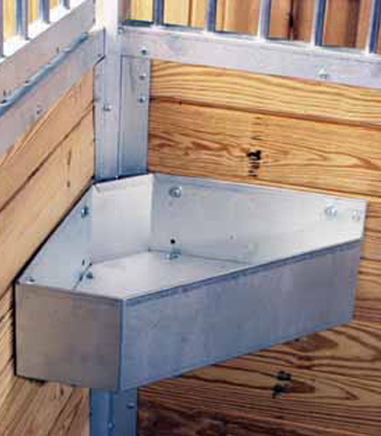 Galvanized Corner Mount Horse Feeder