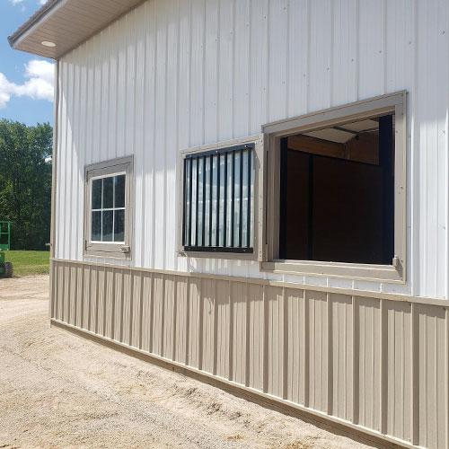 Bale Door - Glass Panel
