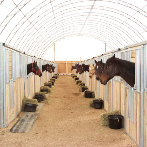 Dublin Horse Stall Front With Feed Door Portable Panel