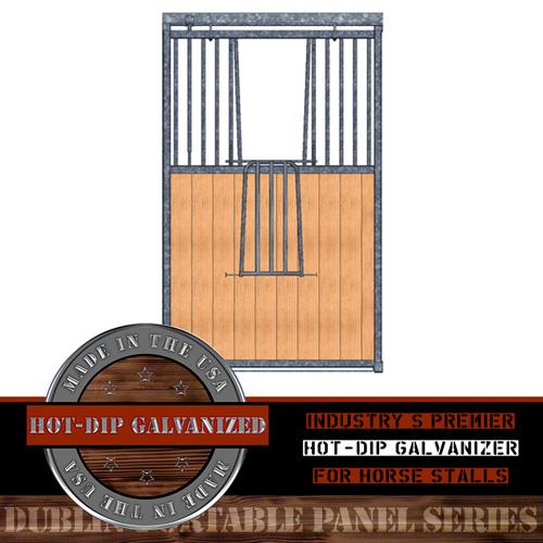 Dublin Portable Panel Stall Grill Top V-Door