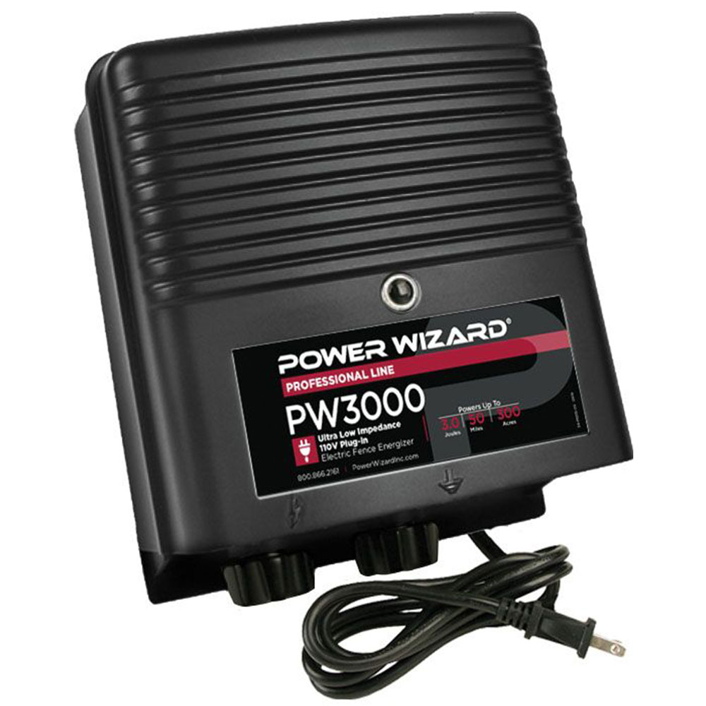 Power Wizard 110V Plug-ln Fence Charger - 3.0 Joules