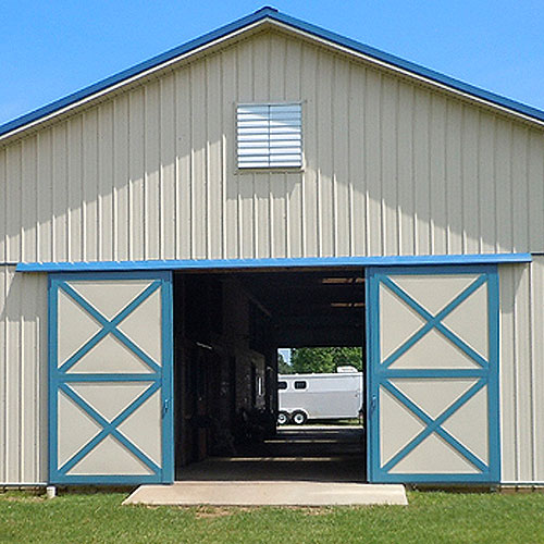 Dutch Barn And Bale Doors Ramm Horse Fencing Stalls